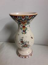 Vase Faience de Desvres Décor Rouen Hauteur 26 cm diamètre 13 cm