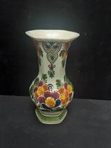 Vase Faience de Delft Hauteur 20cm Diamètre 10cm Décor Polycrome