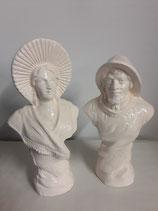 Le Couple Boulonnais Faience de Desvres Hauteur 25 cm diamètre 7 cm