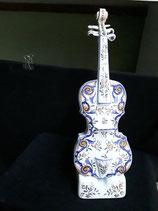 Violon 1 Faience de Desvres Décor Rouen Hauteur 46 cm