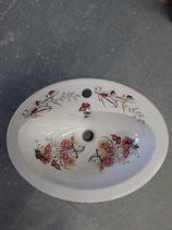 Lavabo Faience de Desvres à poser ou encastrer Longueur 53cm Largeur 41 cm Hauteur 17 cm