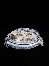 Encrier2 Faience de Delft Longueur 22 cm Largeur 16 cm