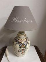 Lampe Faience De Desvres Décor Rouen Hauteur 25cm