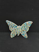 Nouveau Colori ! Papillon Faience de Desvres Hauteur 13cm  Largeur 14cm