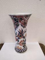 Joli Vase Faience de Delft Hauteur 25cm Diamètre 12,5 cm