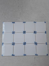 Lot de 12 Carreaux Réf AB68  Faience De Delft 13cm ×13cm