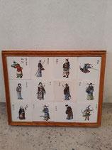 Fresque Samourai Faience de Delft Hauteur 44cm Longueur 56,5 cm