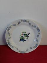 Assiette Plate à Dessert Faience de Desvres Décor Oiseau Diamètre 19 cm stock 6