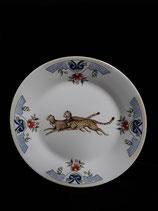 Assiette Plate Ménagère Faience de Desvres Diamètre 19 cm (stock 6 )