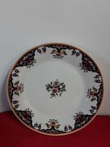 Assiette Plate  Ménagère Faience de Desvres Décor Rouen Diamètre 24 cm stock 12