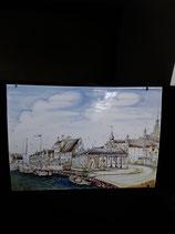 Fresque Faience de Delft Hauteur 24,5 cm Longueur 34,5 cm