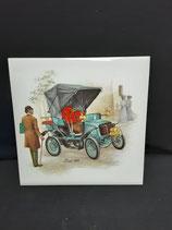 Carreau Carrelage Faience de Desvres Décor Tacot Voiture Ancienne Automobile 15cm ×15 cm