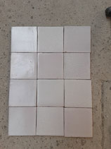 Lot de 12 Anciens   Carreaux Carrelages Ponchon ref AB71 11cm x 11cm