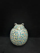 Grande Coccinelle Art Déco Faience de Desvres Hauteur 24cm  Largeur 20 cm s accroche Facilement ou se pose !