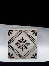 Carrelage numéro 56 Faience de Desvres 11cm ×11cm