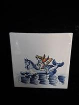 Carreau  Sirène réf 14   dimensions 13cm ×13cm Faience de Delft stock 3