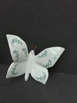 Papillon Faience de Desvres Nouveau Décor Hauteur 11cm Largeur 10cm