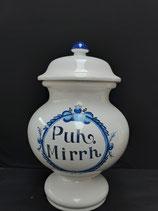 Pot à  Pharmacie Faience de Desvres Décor Delft  Hauteur 43 cm Diamètre 20cm