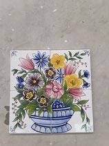 Fresque Faience de Desvres Desvre26cm ×26 cm