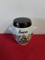 Pot à Sucre Décor Chaumière Faience de Desvres Hauteur 14 cm Diamètre 10 cm