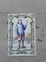 Fresque Automne Faience De Desvres Hauteur 39,5 cm Largeur 26,5 cm