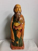 Saint Luc Hauteur 41 cm Faience de Desvres