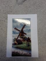 Fresque Moulin Faience de Delft Hauteur 26 cm Largeur 13 cm