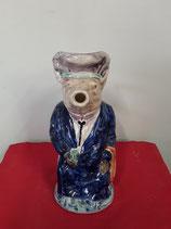 Pichet Cochon Faience de Desvres Style Onnaing Hauteur 28 cm