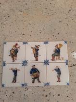 Anciens Carreaux Musiciens Faience de Delft réf AB30 dimensions  13 cm × 13 cm possibilité vente  séparément l