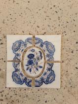 5 Anciens Carreaux Carrelages Faience de Delft 27cm ×27 cm