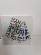 Carreau Faience Vallet de coeur  trèfle carreau pique dimensions 13cm×13cm référence G