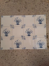 Lot de 12 Carreaux avec paniers de fleurs réf AB41  Faience de Desvres dimensions 13 cm × 13 cm