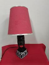 Lampe Africaine Faience de Desvres Hauteur 23 cm Diamètre du Socle 9 cm