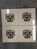 Lot de 4  Anciens Carreaux Carrelages Desvres Fourmaintraux Delassus 15,5 cm ×15,5 cm