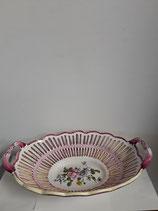 Coupe à Fruits Faience de Desvres Décor Strasbourg Longueur 36 cm Hauteur 8 cm Diamètre 23 cm