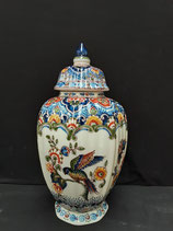 Magnifique Potiche Faience De Delft Hauteur 33cm Base 10,5 cm
