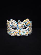 Masque  en Faience de Desvres s accroche Facilement Hauteur 10cm Longueur 16cm
