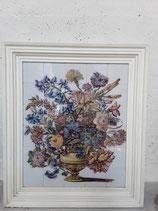 Fresque Fleurale Faience de Delft Hauteur 98cm Longueur 85 cm