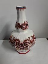 Vase Faience Delft Doré Hauteur 21 cm