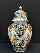 Magnifique Potiche Faience De Delft Hauteur 37cm Diametre 10,5 cm