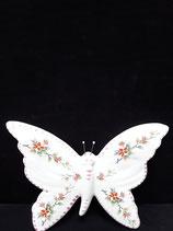 Papillon 10 Nouveau Décor Faience De Desvres Hauteur 13cm Largeur 13cm