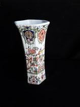 Vase Faience de Desvres Décor Delft Hauteur 18 cm Diamètre 9 cm