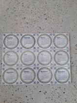 Lot de 12 Carreaux Calendrier réf AB39 Faience de Delft Dimensions 13cm ×13cm