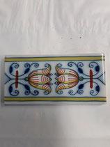 Carreau Frise  Faience de Delft Longueur 12,8 cm Largeur 6,3 cm  stock 19 carreaux référence AB22