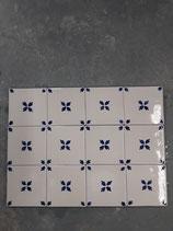 Lot de 12 Carreaux Faience de Desvres 10 cm ×10 cm référence AB52