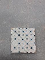 Carreau Ancien Desvres dimension 11× 11 cm réf 03 année 1860