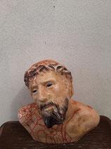 .Jésus Christ Faience de Desvres Hauteur 25 cm Longueur 24 cm