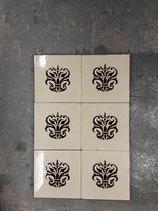 Lot de 6 Anciens Carreaux Carrelages Fourmaintraux Delassus 15,5 cm ×15,5 cm