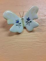 Papillon 5 Faience de Desvres Hauteur 7,5 cm Largeur 6,5cm s accroche avec une simple vis