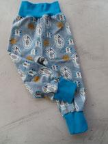 Pumphose Gr. 80 - Eisbär graublau / blau